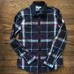 Express plaid dress shirt